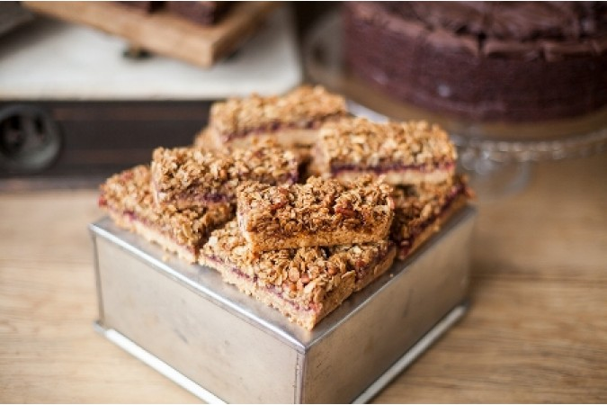 Blackberry & Roasted Pecan Flapjack