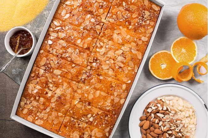 Orange Almond Polenta TrayCAKE