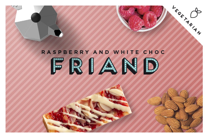 Raspberry, White Chocolate Friand