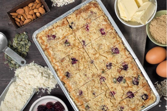 Bramble & Pear Crumble