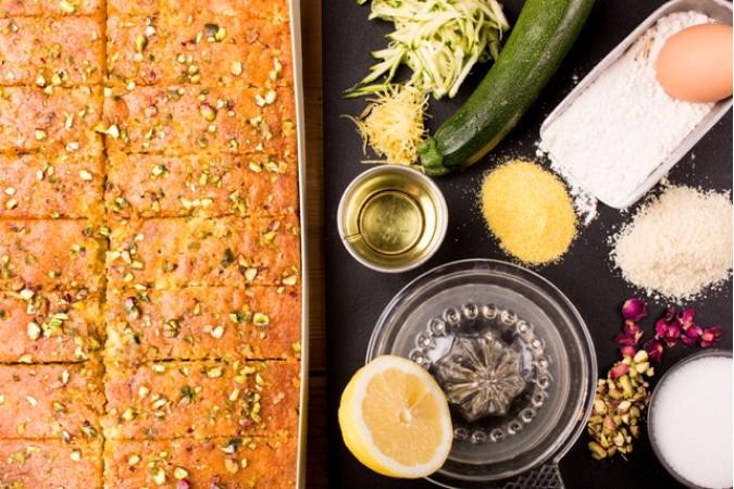 Lemon, Courgette and Pistachio
