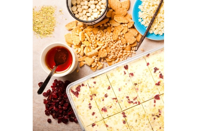 White Chocolate & Cranberry Tiffin