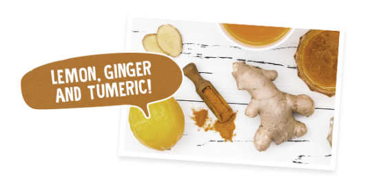Lemon, Ginger & Turmeric