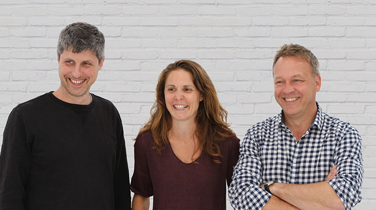 Image of The Cakesmiths Management Team - Tom, Georgina & Mike